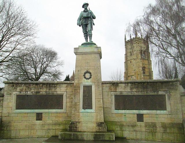 Evesham War Memorial Close-up