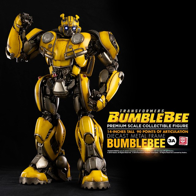 更具魄力的尺寸、更加豐沛的細節! threeA Premium Scale Collectible 系列《大黃蜂》大黃蜂 Bumblebee 14 吋可動人偶作品