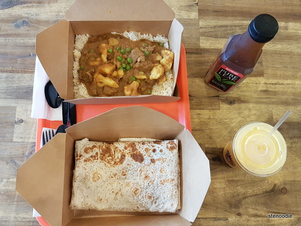 Butter Chicken Roti food at York Mills