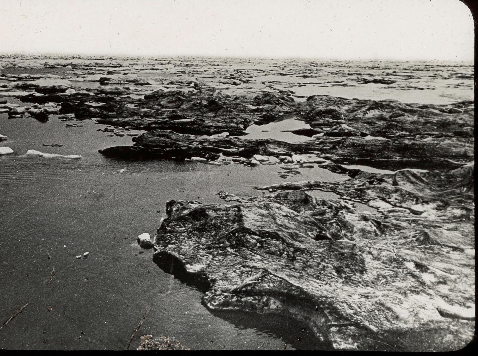 Карское море. Черная грязь льда