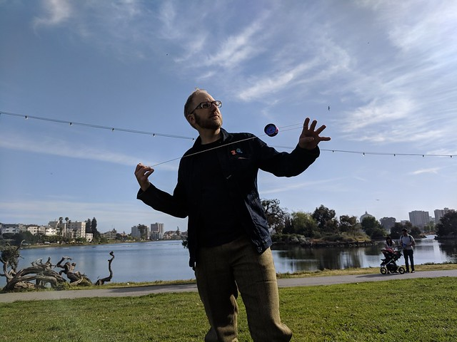 Yoyoing by Lake Merrit