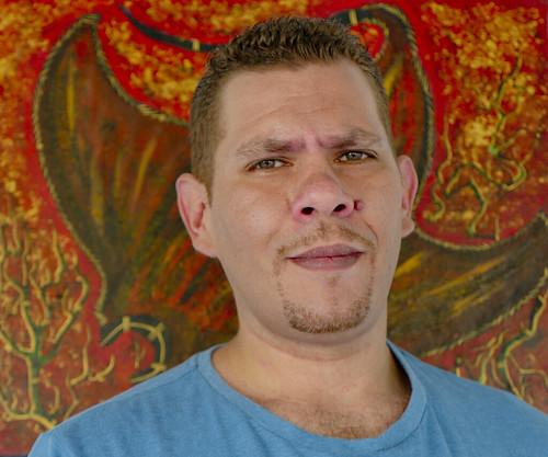 Featured artist Steve Tranby-Murgha of UMI Arts. Photograph by Bernard Singleton Jnr.