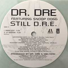 DR. DRE FEATURING SNOOP DOGG:STILL D.R.E.(LABEL SIDE-A)
