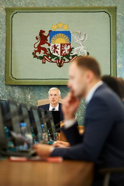 Ministru prezidents Krišjānis Kariņš vada Ministru kabineta sēdi