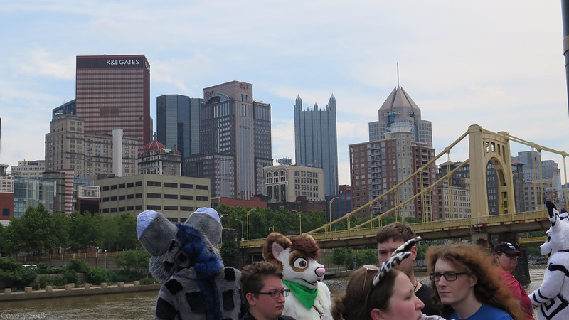 Pittsburgh Skyline with Furries