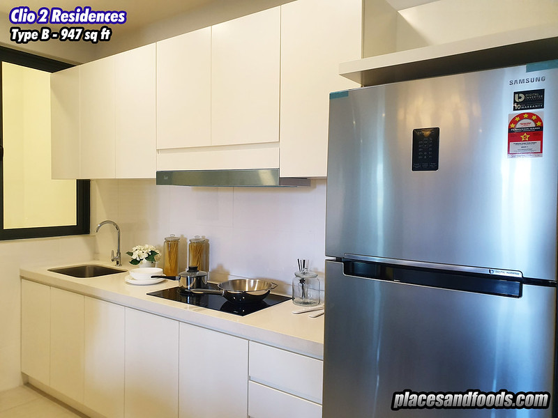 the clio 2 residences type b kitchen
