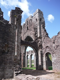 Llanthony Priory Ruins SWC Walk 335 - Pandy Inn to Llanvihangel Crucorney (via Llanthony and Cwmyoy)