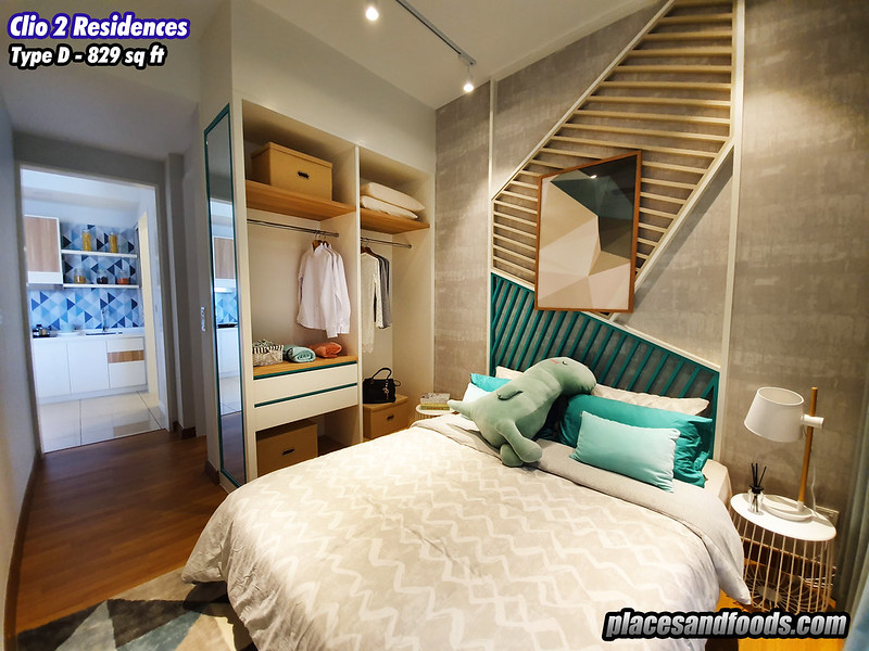 the clio 2 residences type d master bedroom