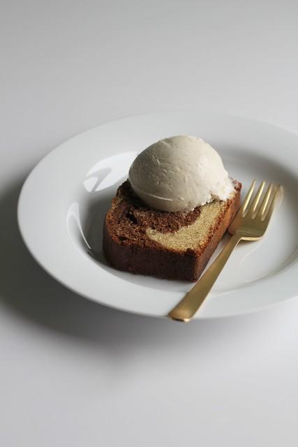 cardamom and mocha marble cake