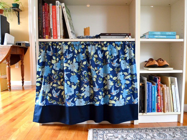 Bookcase Curtain Finished