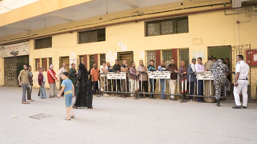 Men's queue at an Egyptian polling station | by Kodak Agfa