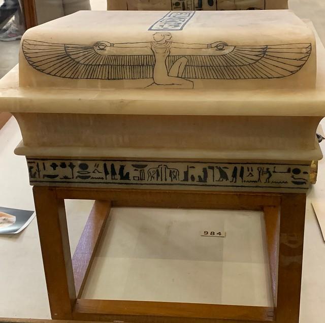 The Museum of Egyptian Antiquities, Cairo, Egypt : King Tutankhamun's canopic lid, Eighteenth Dynasty, New Kingdom