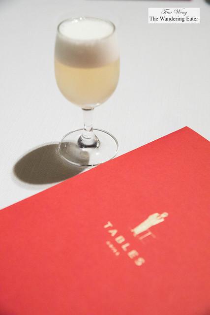 Welcoming drink of lemongrass, ginger tonic