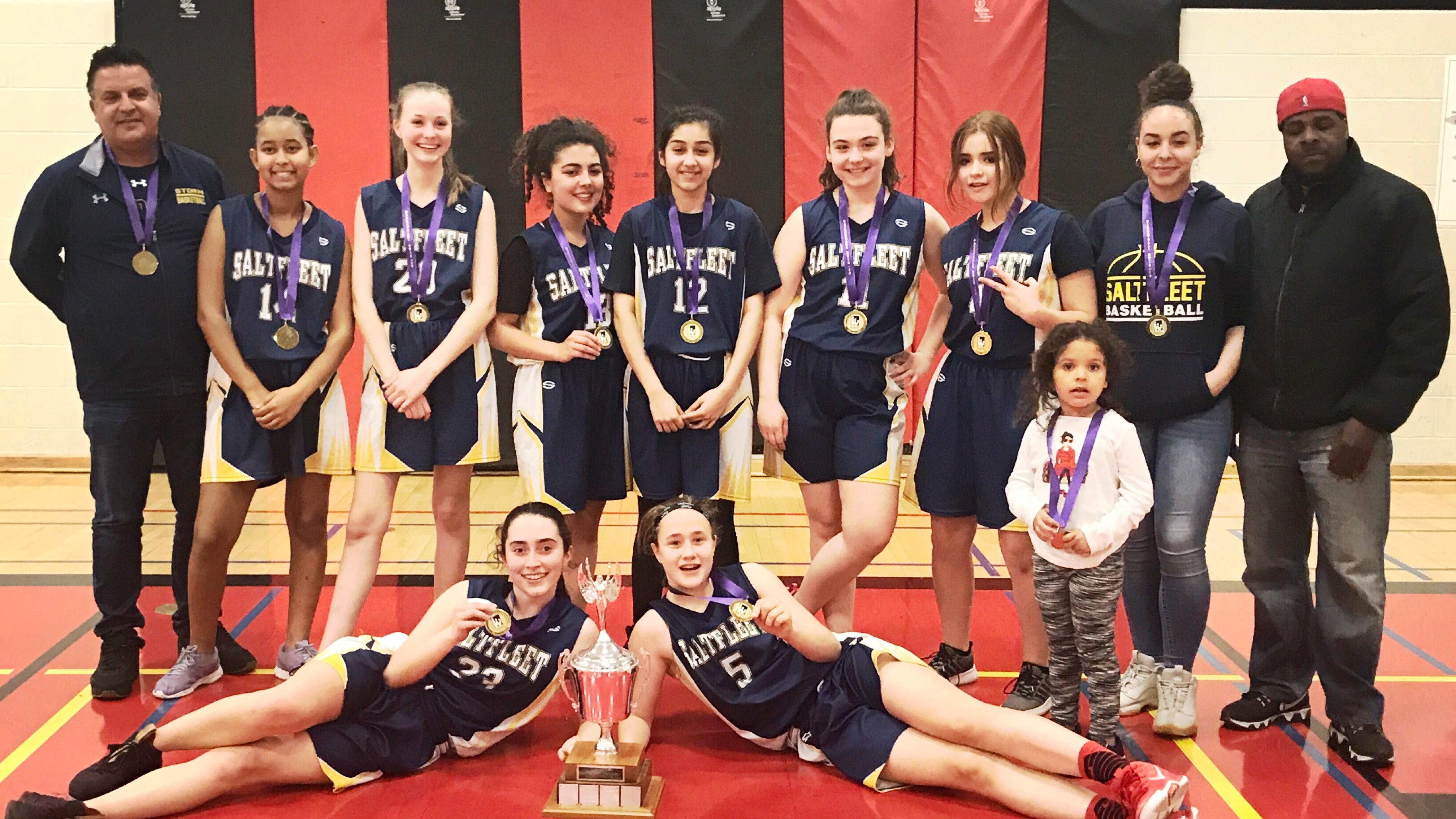 2018-19 Grade 9 Girls Basketball Champions: Saltfleet Storm