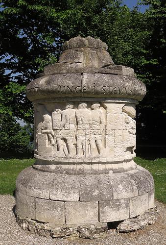 Memorial marker at Stevns Klint in Denmark