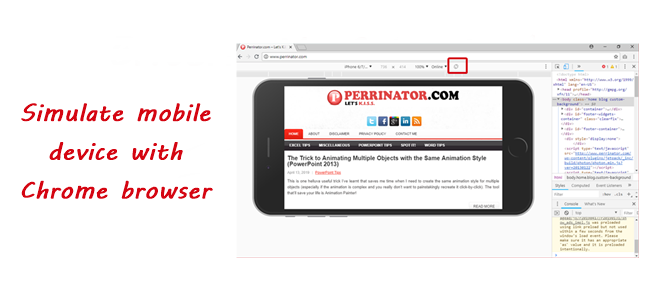 You May Not Know This, But You Can Simulate Mobile Device with Chrome Browser!