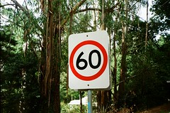 Speed sign says 60