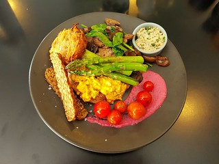 Big Breakfast with Cashew Dill Cream at Dicki's