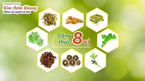 Phối hợp 8 vị thảo dược quý đem lại hiệu quả toàn diện cho người bị sỏi mật