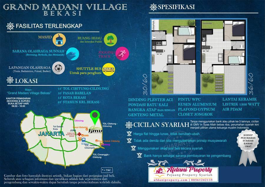 brosur Grand Madani Village Bekasi