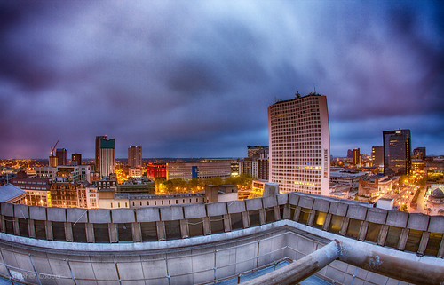 Central Library View - Birmingham UK