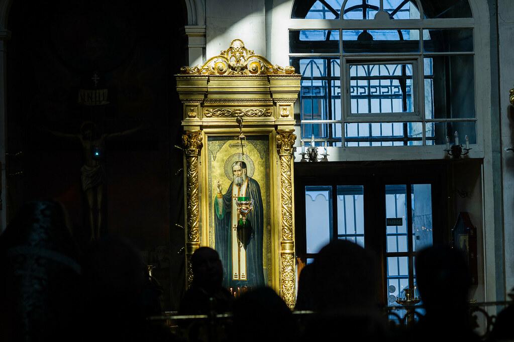 Епископ Воскресенский Дионисий совершил последнюю в этом году Литургию Преждеосвященных Даров