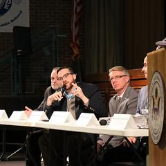 Rep. Davis discusses transportation funding at a regional tolls forum in Vernon