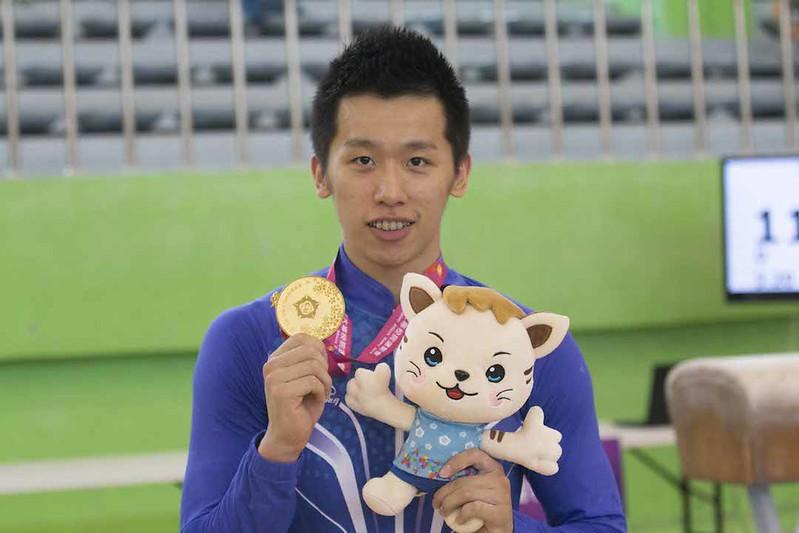 國立體大李智凱奪個人全能金牌。(主辦單位提供)