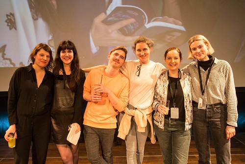 CE19 - Award Ceremony / Katharina Riedler, Zorah Zellinger, Michael Zeindlinger, Andrea Strasser, Sabine Gebetrsroither, Julia Santner (Crossing Europe Team) / photo © Christoph Thorwartl / subtext.at