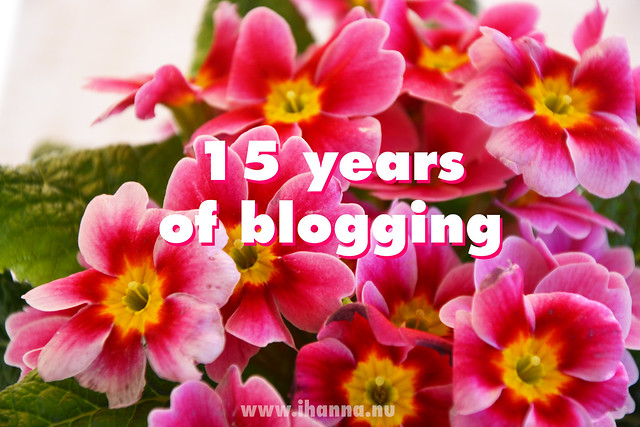 Blogoversary | 15 YEARS of blogging life