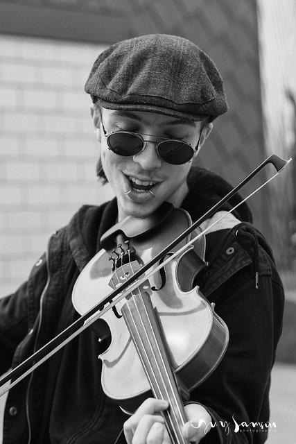 Vincent, musicien de rue
