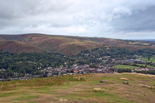 The Long Mynd and Church Stretton, viewed from Ragleth hill, Church Stretton, Shropshire