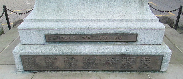 Kendal War Memorial World War 2 Names