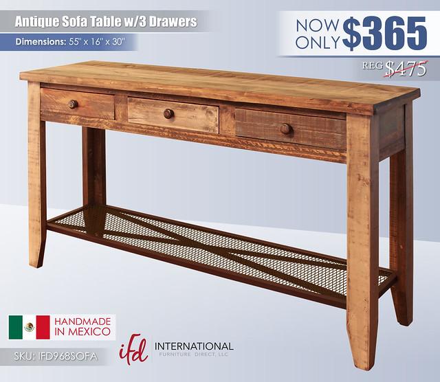 Antique Sofa Table_IFD968SOFA