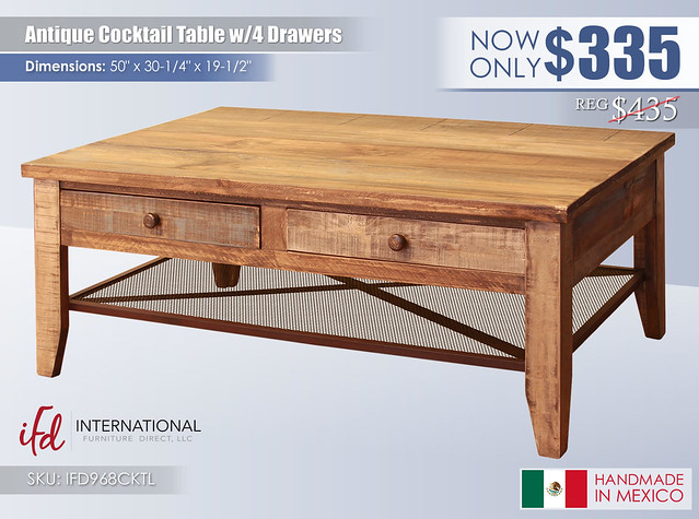 Antique Cocktail Table_IFD968CKTL