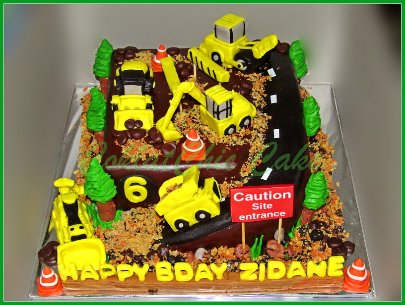 Cake Construction Site ZIDANE 18 cm