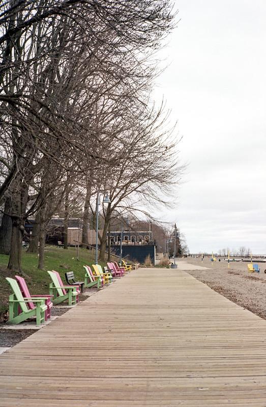 Empty Balmy Beach Boardwalk April 2019