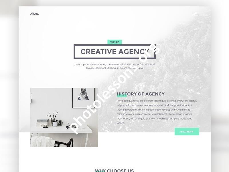 AKAD – шаблон многостраничного сайта PSD+HTML