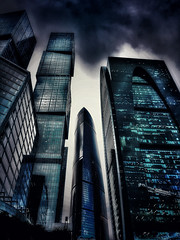 #Moscow #City #Dark #Skyscrapers