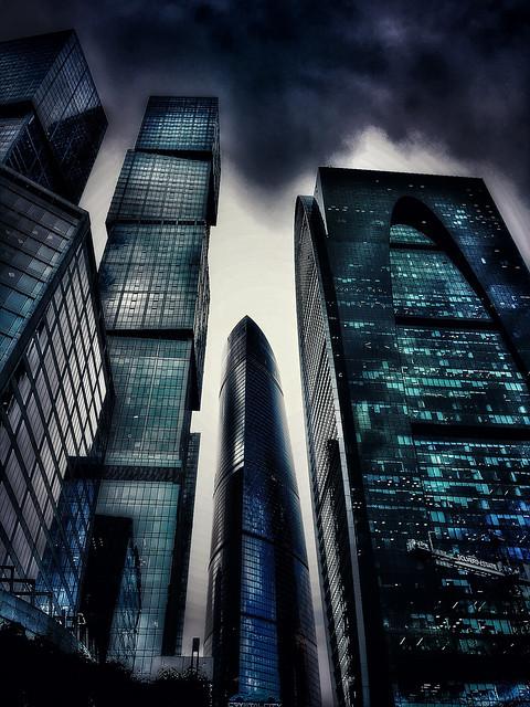 #Moscow #City #Dark #Skyscrapers