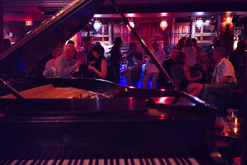 The scene in the Byrd's Nest at Piano Night - April 29, 2019. Photo by Eli Mergel.