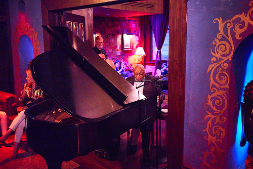 Ellis Marsalis performs in The Byrd's Nest Lounge at Piano Night - April 29, 2019. Photo by Eli Mergel.