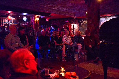 An intimate scene in the Byrd's Nest at Piano Night - April 29, 2019. Photo by Eli Mergel.