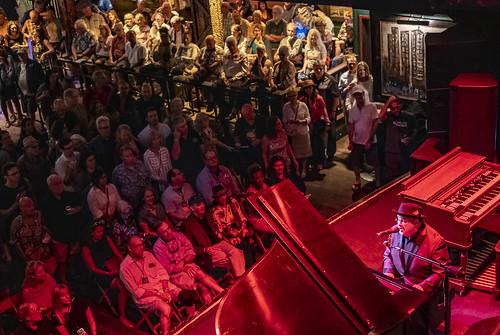 John Papa Gros  at Piano Night - April 29, 2019. Photo by Marc PoKempner.