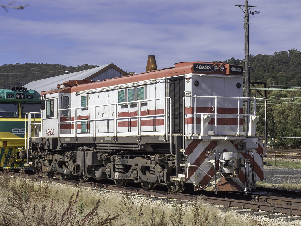 A surprise find - Locomotive 48s33 seen idle in Lithgow NSW by Paul Leader - Paulie's Time Off Photography