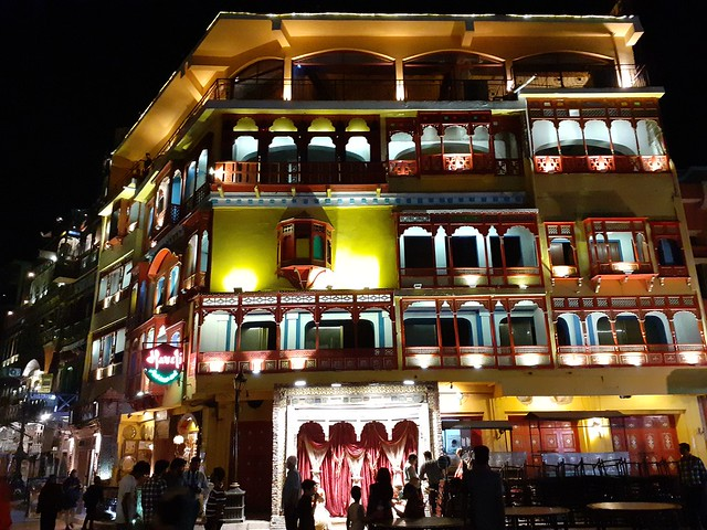 Haveli restaurant at night mobile photography