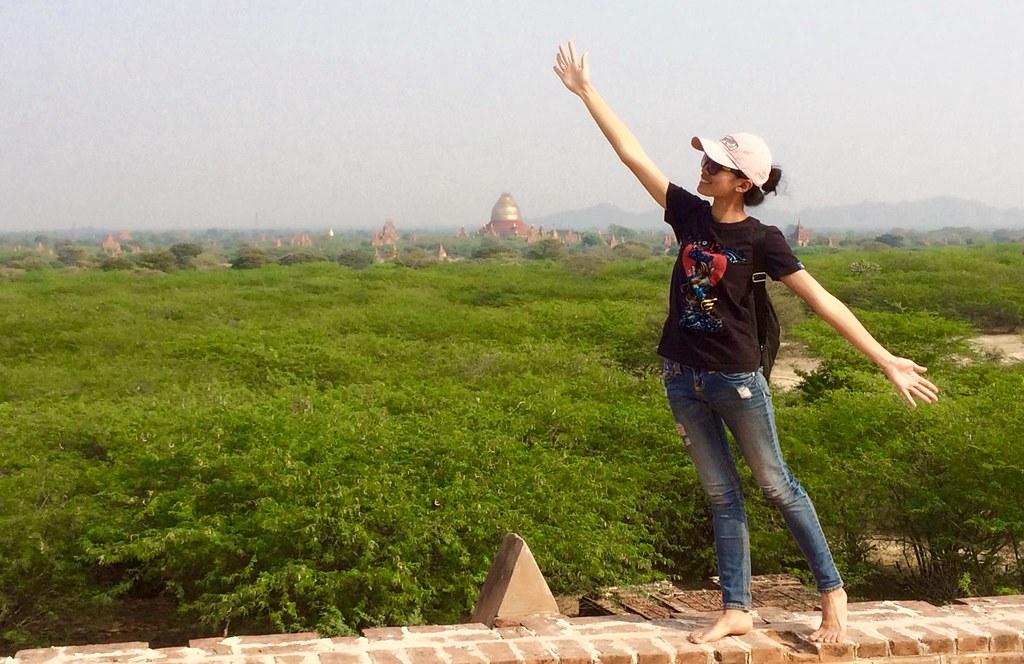 Sarah in Bagan