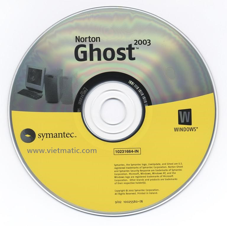 Phần mềm Norton ghost 2003 của Symantec
