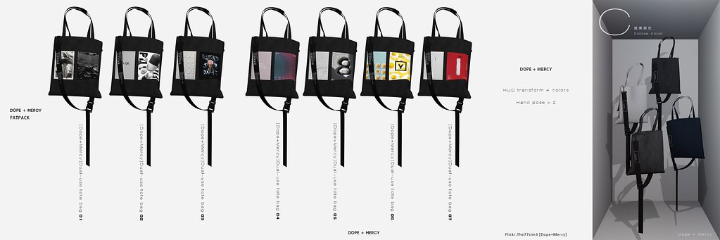 [Dope+Mercy]Dual-use tote bag
