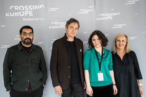CE19 - Opening Ceremony: Mahmut Fazil Coskun (jury member), Jean Perret (jury member), Ana Lungu (jury member), Christine Dollhofer (festival director)  // photo © Christoph Thorwartl // subtext.at